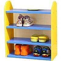 Preisvergleich für BLOIBFS MEI Schuhrahmen Kreative Kinder Kombination Farbe Schöne Multi-Store Regale Regale Schuh,Yellow
