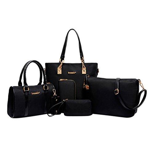 Kairuun Damen Handtaschen Große Henkeltaschen Satchel Crossbody Umhängetaschen Taschen Geldbörse mit 6 Stück Set