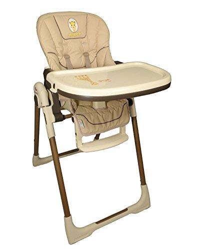 Renolux – Chaise haute pliante Vision Sophie La Girafe Classique Marron/beige