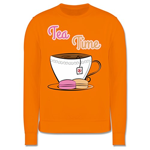 Küche - Tea Time - Herren Premium Pullover Orange