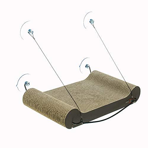 CFCWWJG Vier Jahreszeiten können Windows Cats Hängematte Bett Super Saugnapf Mat Cat Claw Wellpappe ()