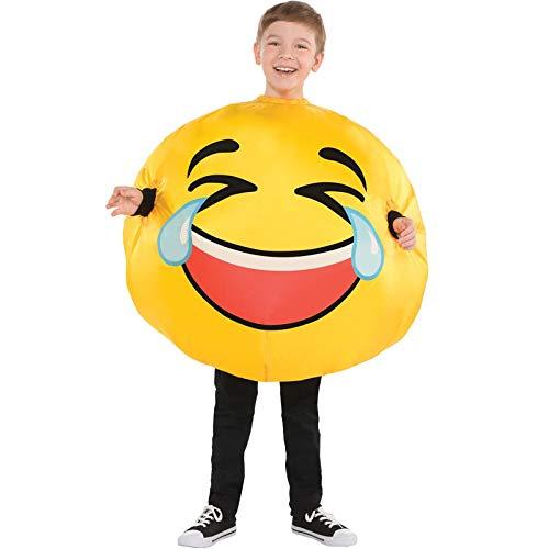 s Gesicht LOL Kinderkostüm Smiley gelb 128/140 (8-10 Jahre) ()
