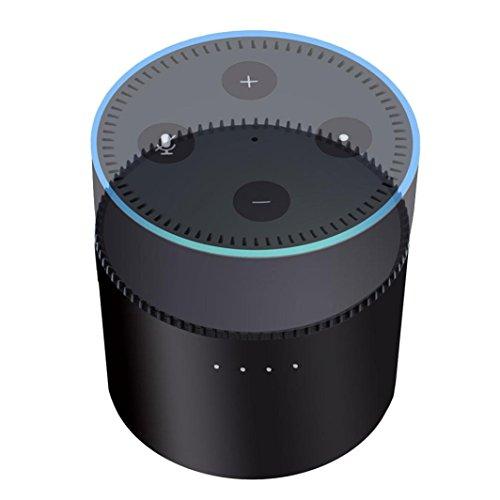 für Echo Dot 2 Ladestation 10000mAh Batteriestation Battery Charging Station for für Echo Dot 2 (schwarz)