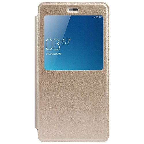 Ceffon Leather Flip Cover For Samsung Galaxy A9 Pro Flip Cover Case – Gold