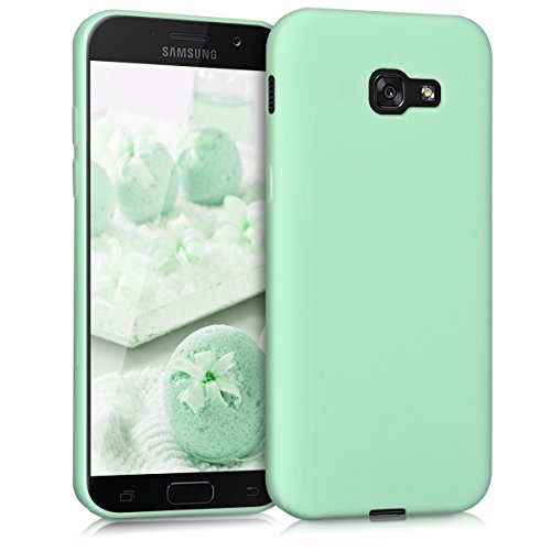 kwmobile Hülle für Samsung Galaxy A5 (2017) - TPU Silikon Backcover Case Handy Schutzhülle - Cover Mintgrün matt