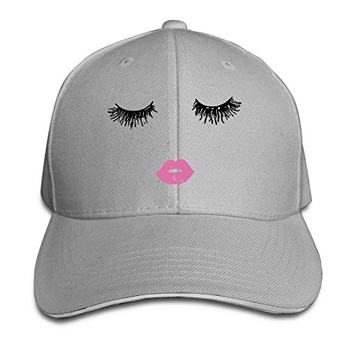 Preisvergleich Produktbild Suxinh Baseball Caps Closed Red Lips Unisex Snapbacks Cap Vintage Trucker Hats