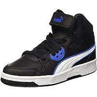 Puma Rebound Street L Jr - Zapatillas de deporte para niños, Negro/Blanco, 38 (UK 5)