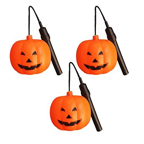 CSDM.AI Halloween Kürbis Laterne, Partybar Haunted Haus Halloween Hängende Dekorationen (3 Packungen)