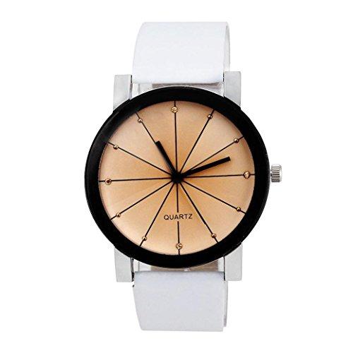 FEITONG Hombres Reloj de cuarzo Reloj de pulsera de cuero Caja redonda