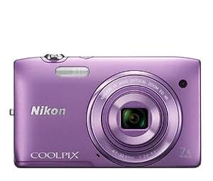 """Nikon Coolpix S3500 Appareil photo numérique compact 20,48 Mpix Ecran 2,7"""" Zoom optique 7x Violet"""