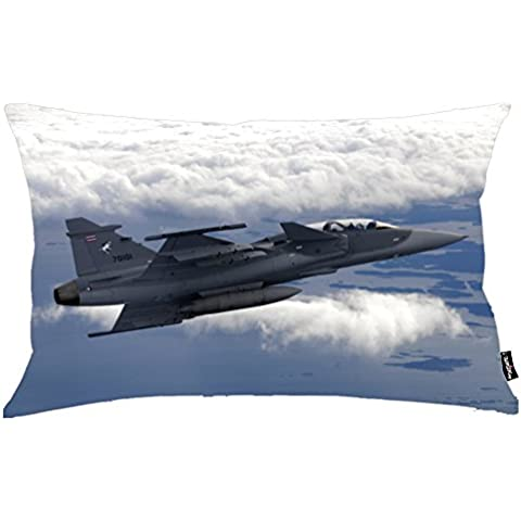 i FaMuRay Federa Cuscino, General Dynamics-f-16 Fighting Falcon Theme, 20x36 Inches