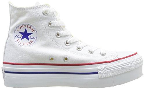 Converse, A/S Hi Platform Canvas, Sneaker, Donna White