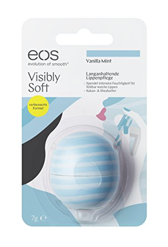 Visibly Soft Vanilla Mint Smooth Sphere Lip Balm Blister, 7g - Cool Mint Lip Balm