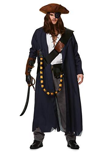 Karnival 82217Stecker Pirat Voyager Kostüm, Herren, Mehrfarbig, ()