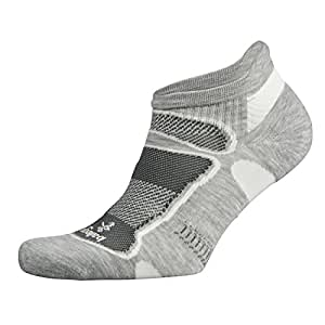 Balega, calzini bassi uomo e donna ultraleggeri per corsa e atletica, Uomo donna, Balega Ultralight No Show Athletic Running Socks for Men and Women, Grey/White