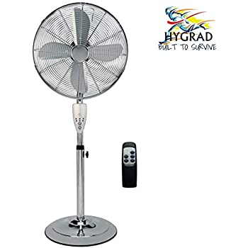 Aironic Chrome Pedestal Floor Fan 16 Inch with Remote Control 3 Speed
