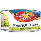 لحم التونة الخفيف الصلب في زيت الزيتون من كاليفورنيا غاردن، 185 غرام - عبوة من قطعة واحدة