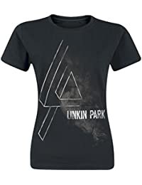 Linkin Park Smoke Logo Girls Shirt Black