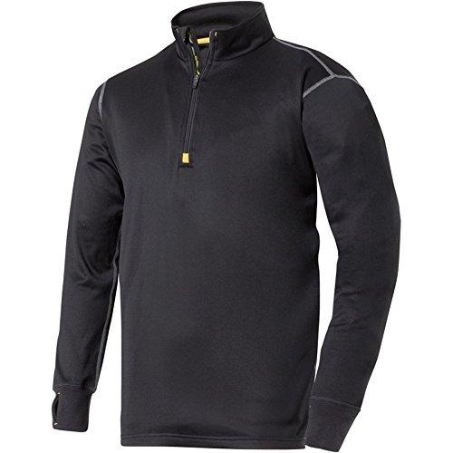 snickers-94130400005-size-medium-micro-pullover-fleece-with-1-2-zip-black