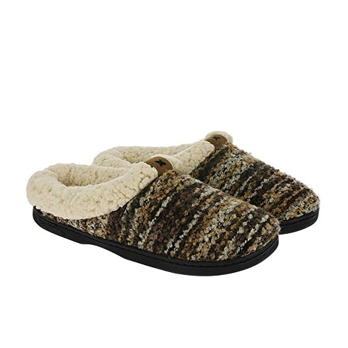 Dearfoams - Space-dye Boucle Clog With Memory Foam, Pantofole Donna Espresso