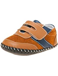 Little Blue Lamb3121 – Zapatos para bebé con cierre de velcro, color marrón