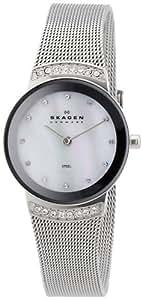 Skagen Damen-Armbanduhr XS Analog Quarz Edelstahl beschichtet 812SSS