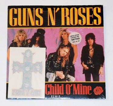 GUNS N' ROSES sweet child o' mine (remix), 7 inch single, GEF 55