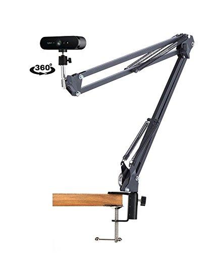 Preisvergleich Produktbild 360 ° Webcam Ständer Desktop Aussetzung Boom Scissor Arm Halterung für Logitech Brio 4K C1000E Webcam