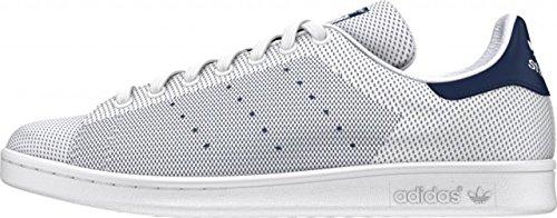 adidas Stan Smith, Baskets Basses Homme Blanco / Azul marino