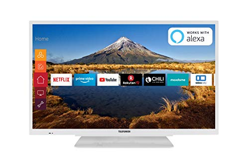 Telefunken XH32G511-W 81 cm (32 Zoll) Fernseher (HD ready, Triple Tuner, Smart TV, Prime Video) (Tv De 32)