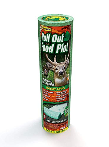 Roll Out Food Plot - Ready to Feed in 14 Days! Addictive Clover Formula Food Plot Seeds Attract Deer & Turkey. No Equipment Needed Grows All Year. 40 Ft X 30 in