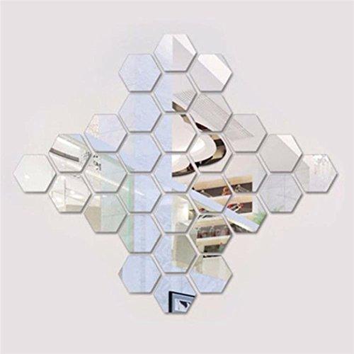 ufkleber 12 Stück Hexagon Acryl Wandtattoo Moderne Decor Kunst DIY Wandtattoo ()