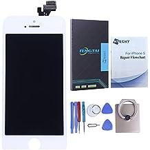 Htechy Asamblea Pantalla Táctil LCD de Repuesto Digitalizador para For iPhone 5 Blanco