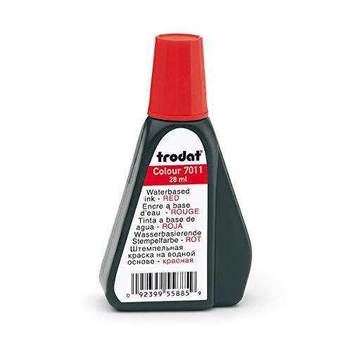 Trodat 7011 Stempelfarbe, 28 ml, rot
