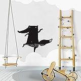 yaoxingfu Nuevo Único Pequeño Fox Nursery Etiqueta de La Pared de Vinilo Removible Impermeable Mural Chica Habitación Tatuajes de Pared Cartel de Arte Decoración Interior L108cm x 84cm