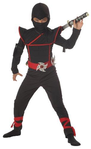 California Kost-m Kollektionen CC00228-M Jungen Stealth Ninja Kost-m - (Stealth Jungen Ninja Kostüm)