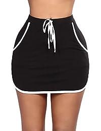 Adelina Falda Maxi Mujer Elegantes Verano Chiffon Elastische Taille  Perspectiva Faldas Largas Negro Fashion Niña Doble 3f389f060437