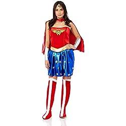 DC Comics - Disfraz de Wonder Woman para mujer, Talla S adulto (Rubie's 888439-S)