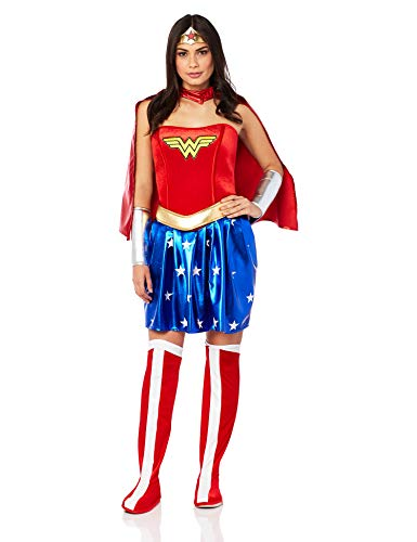 Rubies Disfraz Wonder Woman adultos Color rojo Talla S 888439-S