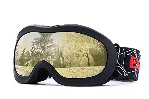 OTG REVO Ski-Brille Anti-Beschlag, UV-Schutz, Snowboard-Brille für den Schnee, Snowboard, Snowmobile, Skateboard, Motorrad, Reiten, Schneebrille für Kinder - Von EnergeticSkyTM Uv-kanal Licht