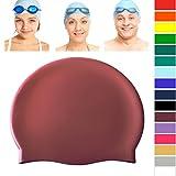 Good Quality Plain Silicone Swim Hat Boys Girls Childs Mens Ladies Adults (Maroon / Burgundy) - Joggaboms - amazon.co.uk