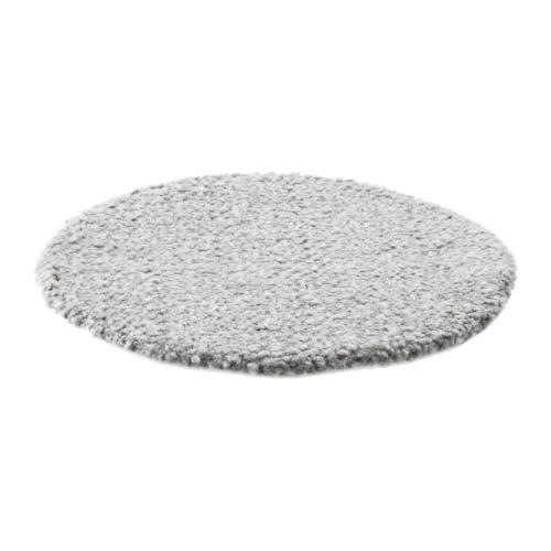 IKEA Stuhlkissen Bertil rundes Sitzkissen - 33cm Durchmesser - Sitzauflage mit Rutschfester Unterseite - maschinenwaschbar - grau -