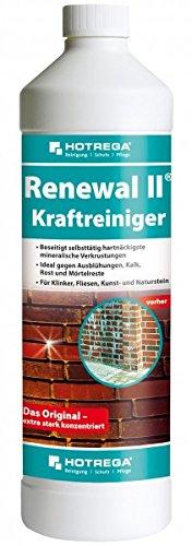 Hotrega Kraftreiniger Renewal II 1Liter Multifunktionelles Konzentrat rückstandslosen Beseitigung hartnäckiger Verkrustungen