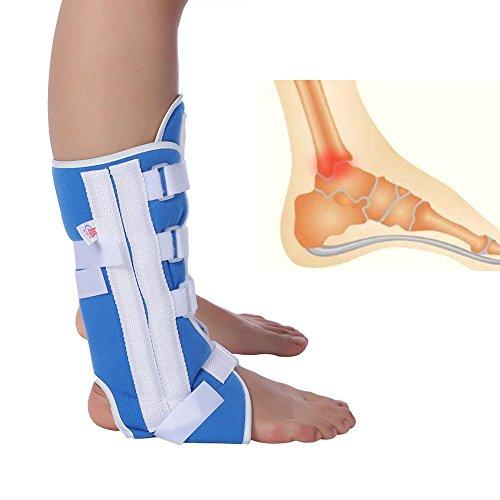 Cavigliera Compressione Piede Protezione Avvolgente Ginocchio Supporto per articolazione Cinturino alla Caviglia Ortesi Distorsione Piedi Tendinite al Tallone, Sperone calcaneare(L)