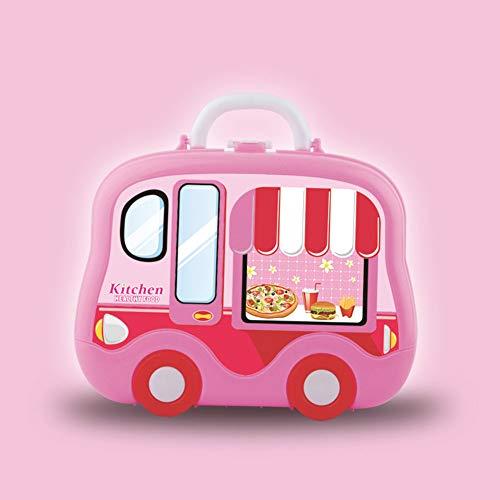 Imagen para zx-shop, Maletín de Cocina Mochila Chef, Juguete de Cocina para Niñas, Cocina Juguetes 24piezas Juegos de rol para niños