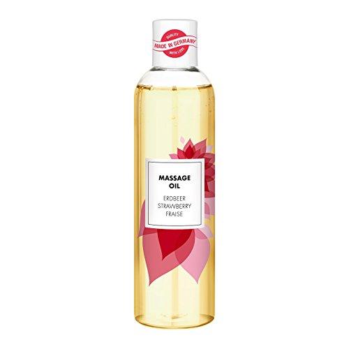 Aroma Massageöl für entspannende Massagen | erotisches Massage Öl | fruchtiges Erdbeer-Aroma | 250ml