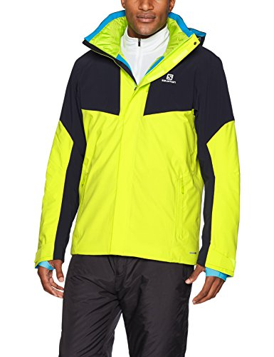 Salomon Herren Icerocket Jacke, Acid Lime/Night Sky, 2XL