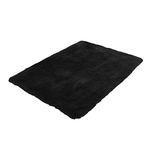Winomo soggiorno tappeto per i bambini gioca solid home decorator tappeto da pavimento 40x60cm (nero)