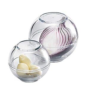Westmark 2 Frischhaltekugeln, Durchmesser: 7/9 cm, Stapelbar, Kunststoff, Transparent, 25722260