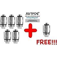 [GARANTIA 100% ORIGINAL & PREMIUM] - [5 + 1 GRATIS] Lote de 6 resistencias JUSTFOG AUTHENTIC compatible JUSTFOG Q16 / Q16C / P16A / P14A / Q14 / C14 / G14 / S14 - Puede comprobar el código de seguridad verificable directamente en el sitio web de JUSTFOG